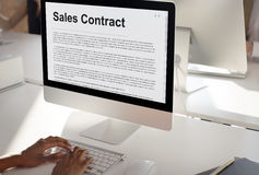 Sales Contract Forms Documents Legal Concept Stock Photo