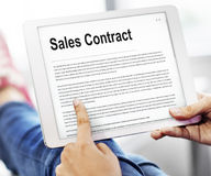 Sales Contract Forms Documents Legal Concept. Technology Sales Conctact Information Concept stock photos