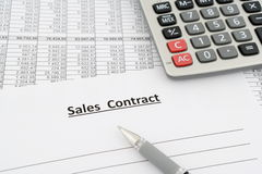 Sales contract Stock Image