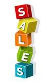Sales cubes Stock Images