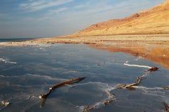 Sales del mar muerto Imágenes de archivo libres de regalías