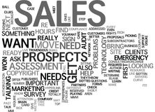 It Sales Determine Your Clients Needs Word Cloud Concept Royalty Free Stock Photography