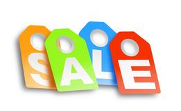 Sales. This is a digital drawing of 4 labels with sale on it Royalty Free Stock Photography