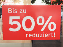 Sales discount sign Stock Image