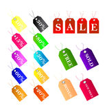 Sales and Discount tags. Collection of tags with discount and sales Stock Images
