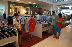 Sales discount. Various types of clothing sold at a discount shopping mall in the city of Solo, Central Java, Indonesia Royalty Free Stock Image