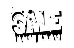 Sales. discount on white background blots in the form of stains. discounts on the purchase.  stock illustration