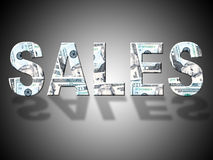 Sales Dollars Means United States And Bank Royalty Free Stock Photo