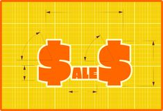 Sales draft style sticker Royalty Free Stock Photography