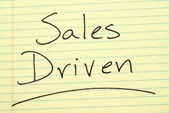 Sales Driven On A Yellow Legal Pad Royalty Free Stock Images