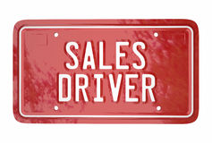 Sales Driver Top Seller Car Vehicle License Plate Words Stock Photos