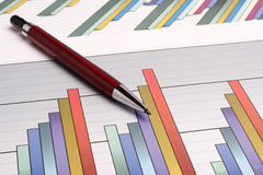 Sales earning chart Stock Photo