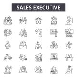 Sales executive line icons, signs, vector set, outline illustration concept. Sales executive line icons, signs, vector set, outline concept illustration royalty free illustration