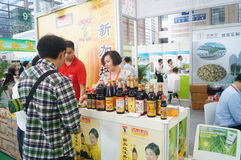Sales exhibition of soy sauce Royalty Free Stock Image