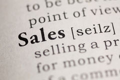 Sales. Fake Dictionary, Dictionary definition of the word Sales. including key descriptive words Stock Photo