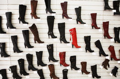 Sales of fashionable footwear Royalty Free Stock Images