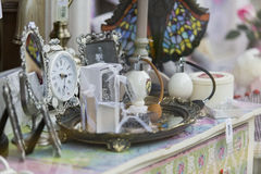 Sales fever. Womans classic shop interior - sales fever on holly days in Romania Stock Photo