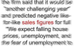 Sales Figures. Abstract photo of the words Sales figures Stock Photo