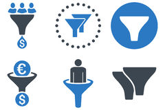 Sales Filter Flat Vector Icons Stock Images