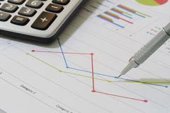 Sales and financial business report Stock Photo