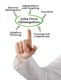 Sales Force Optimization Royalty Free Stock Photos