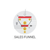 Sales Funnel Analysis Concept Finance Data Icon Royalty Free Stock Photo