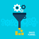 Sales Funnel Flat Concept Royalty Free Stock Photos