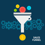 Sales Funnel Flat Concept Royalty Free Stock Images