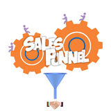 Sales funnel flat illustration,  graphics. Stock Photos