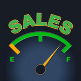 Sales Gauge Means Promotion Meter And Scale Stock Photography
