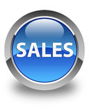 Sales glossy blue round button Stock Images
