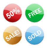 Sales glossy button icon Royalty Free Stock Photo