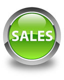 Sales glossy green round button Stock Image