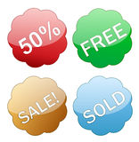 Sales glossy icon tag Stock Image