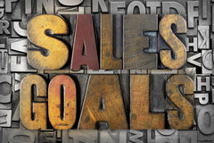 Sales Goals Royalty Free Stock Image