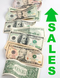 Sales growing Royalty Free Stock Photos