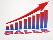 Sales Growth with arrow symbol (concept image) Royalty Free Stock Image
