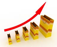 Sales growth chart Stock Image