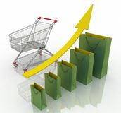 Sales growth chart Stock Photo