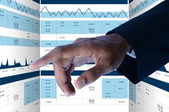 Sales growth graph in stock market. Digital illustration of Sales growth graph in stock market in color background Stock Image