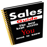Sales guide of secrets. A sales guide saying it has the best kept secrets you need to know. sales and marketing concept vector illustration