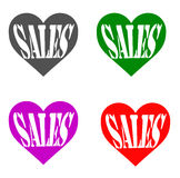 Sales hearts Royalty Free Stock Photography