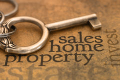 Sales home property. Close up of Sales home property concept Royalty Free Stock Photos