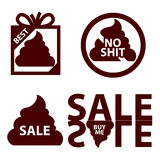 Sales icon logo with shit. Lies, deception marketing Royalty Free Stock Images
