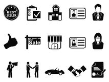 Sales icon set Stock Images