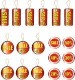 Sales icon set Stock Photos