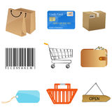 Sales icons Royalty Free Stock Photos