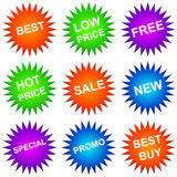 Sales icons. Colorful icons to be used in trade or in commercial environment Royalty Free Stock Photography