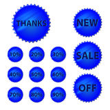 Sales icons Stock Photography