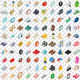 100 sales icons set, isometric 3d style. 100 sales icons set in isometric 3d style for any design vector illustration Royalty Free Stock Photos